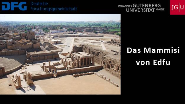 DFG-Projekt: Das Mammisi von Edfu